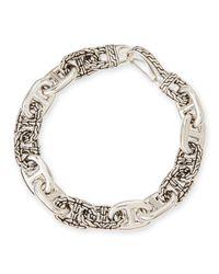 John Hardy - Metallic Mens Classic Chain Silver Anchor Rode Link Bracelet for Men - Lyst