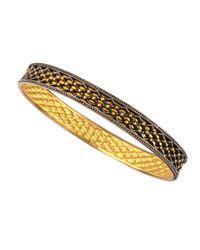 Gurhan - Metallic Granulated Wide Bangle Bracelet - Lyst