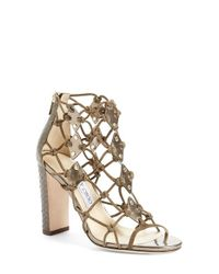 Jimmy Choo - Natural 'trickle' Caged Sandal - Lyst
