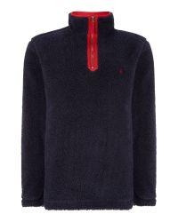 Joules Black Malvern Fleece Sweatshirt for men
