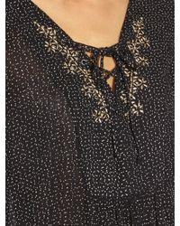 Velvet By Graham & Spencer Black Sloane Lace-front Dress