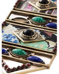 Etro Metallic Beaded Tassel Rope Chain Necklace