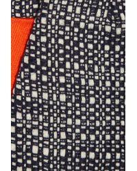 Victoria Beckham White Tweed and Stretch Cotton Shorts