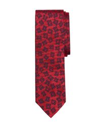 Brooks Brothers - Red Foulard Slim Tie for Men - Lyst