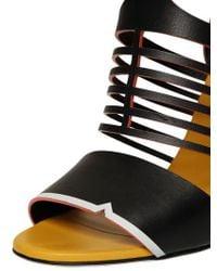 Fendi Blue 105mm Leather Cage Sandals