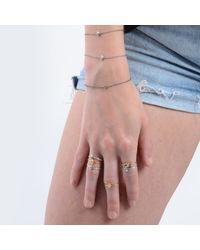Lee Renee - Metallic Tiny Voodoo Erzulie Ring Diamond & Gold Vermeil - Lyst