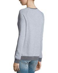 Soft Joie Gray Bini Textured Crewneck Sweater