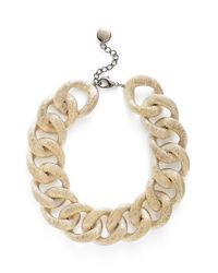 Pono Metallic 'etched By Fire' Choker Necklace - Light Gold