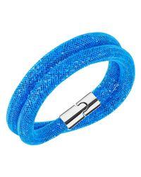 Swarovski | Stardust Capri Blue Double Bracelet | Lyst