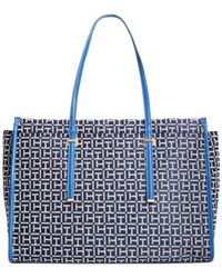Tommy Hilfiger Blue H Group Monogram Jacquard Shopper