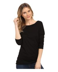 Three Dots - Black Kylie Long Sleeve Tunic - Lyst