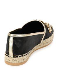 Rene Caovilla - Black Embellished Braided Espadrilles  - Lyst