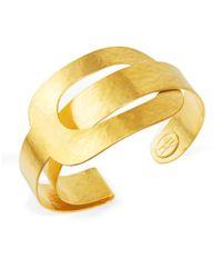Herve Van Der Straeten | Metallic Oval Link Cuff Bracelet | Lyst