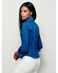 Free People | Blue Womens Rogue Slim Denim Shirt | Lyst
