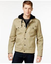 Hurley Natural Hooded Trucker Jacket for men