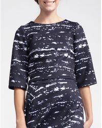 Cynthia Rowley | Black Bonded Elbow Sleeve Shirt | Lyst