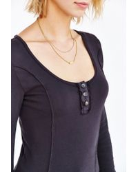 Truly Madly Deeply - Black Cassidy Henley Top - Lyst