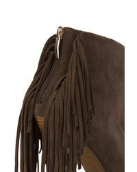 Naughty Monkey - Brown Girl's Best Fringe Booties - Lyst