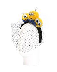 Piers Atkinson Yellow Minions Veil Headband