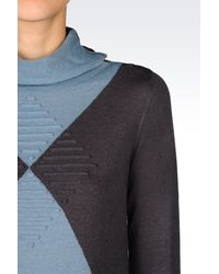 Armani | Blue Jumper In Cashmere Wool | Lyst