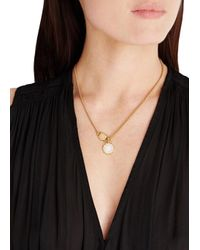 Marc By Marc Jacobs | Metallic Logo Disc-O Scalloped Gold-Tone Necklace | Lyst