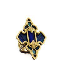 Armenta | Blue Lapis & White Quartz Doublet Cross Ring | Lyst