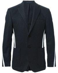 Cmmn Swdn - Blue Pinstriped Grosgrain Band Blazer for Men - Lyst