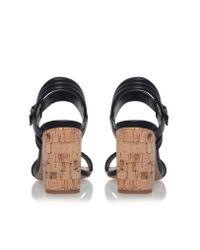 Carvela Kurt Geiger | Black Slick High Heel Sandals | Lyst
