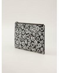 KENZO - Black Printed Make Up Bag - Lyst