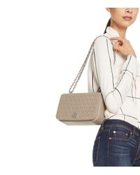 Tory Burch - Green Robinson Perforated Shoulder Bag - Lyst