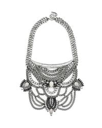 BaubleBar | Gray 'orwell' Bib Necklace | Lyst