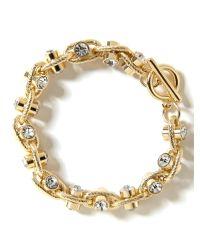 Banana Republic | Metallic Crystal Toggle Bracelet | Lyst