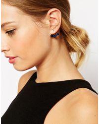 ASOS - Blue Jewel Swing Earrings - Lyst