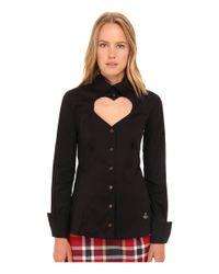 Vivienne Westwood Red Label Black Classic Poplin Love Shirt