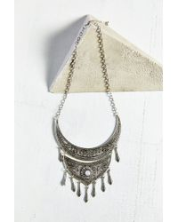 Urban Outfitters | Metallic Cord Statement Necklace In Silver | Lyst