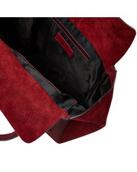 River Island Red Leather Tote Bag