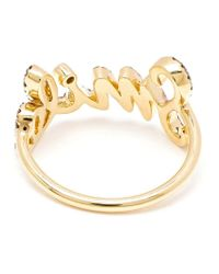 Rosa De La Cruz | Metallic Smile Diamond Ring | Lyst