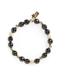 kate spade new york | Black Beaded Stretch Bracelet | Lyst