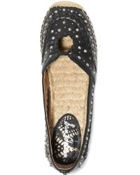 Sam Edelman Black Liam Studded Leather Espadrilles