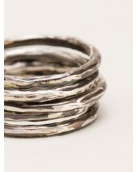 Henson | Metallic Ring Set | Lyst