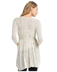 Jessica Simpson Natural Maternity Striped Babydoll Top