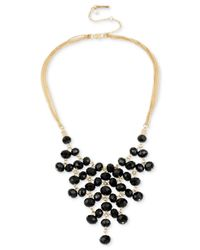 Kenneth Cole | Metallic Gold-tone Multi-stone Collar Necklace | Lyst