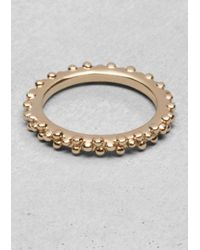 & Other Stories - Metallic Ball Stud Ring - Lyst