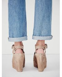 Free People | Natural Fp Collection Womens Monte Carlo Platform Wedg | Lyst