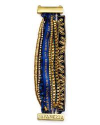 Hipanema   Metallic Blue Bracelet   Lyst