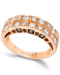 Le Vian | Pink Chocolate And White Diamond Engagement Band In 14k Rose Gold (3/4 Ct. T.w.) | Lyst