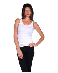 Majestic Filatures | White Tank With Finished Trim | Lyst