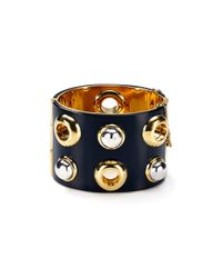 Marc By Marc Jacobs | Black Cabochon Statement Hinge Cuff | Lyst