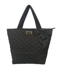 Betsey Johnson | Black Tie The Knot Quilted Tote | Lyst