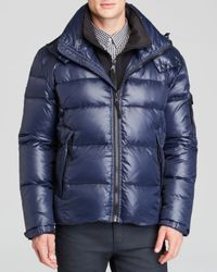 S13/nyc Blue Downhill Hooded Jacket for men